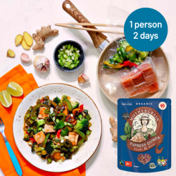 Easy Express Quinoa + Sticky Teriyaki Salmon Stir Fry Meals for 2 Days