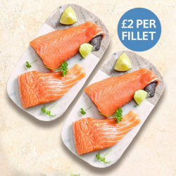 4 X 113g Fresh Salmon Fillets - Just £2 Per Fillet