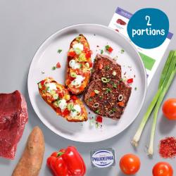 Steak & Saucy Stuffed Sweet Potato - 2 Portion Recipe Kit