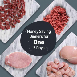 Money Saving Dinners For One - Meats For 5 Meals