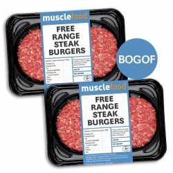 4 x 113g Free Range Steak Burgers - BOGOF