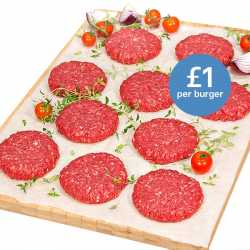 10 x 113g Free Range Steak Burgers
