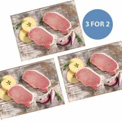 2 x 170g Unsmoked Bacon Steaks - 3 FOR 2