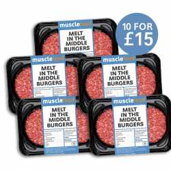 10 x 135g Melt in the Middle Beef Burger JUST £15