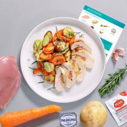 Cheese & Tomato Stuffed Chicken with Veg Recipe Kit