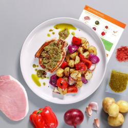 Pesto Pork with Mediterranean Veg Recipe Kit