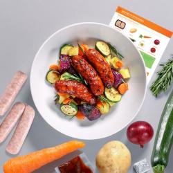 Sticky Chilli Sausage & Veg Bake Recipe Kit