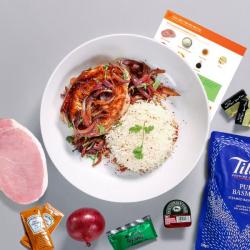 Sticky Maple Pork with White Rice Recipe Kit
