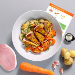 Sweet Mustard Pork with Roast Veg Recipe Kit