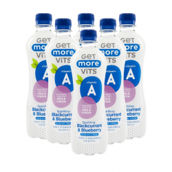 6 x 500ml Vitamin A Sparkling Blackcurrant and Blueberry
