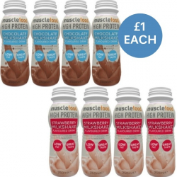 8 x High Protein Shakes 21g Protein – Chocolate/Strawberry
