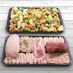 Luxury Two Pan Christmas Feast Turkey & Beef