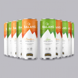 Balans Aqua Spritz - 10 x 250ml Cans for just £2.95