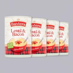 Baxters Lentil & Bacon Soup 4 x 400g