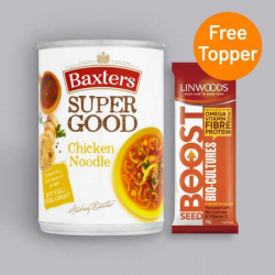 Baxters Super Good Chicken Noodle Soup 400g + Free seed Topper