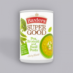 Baxters Super Good Pea, Broccoli and Basil Pesto Soup 400g