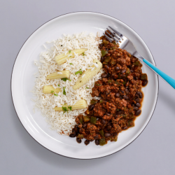 Beef Chilli With Rice - 356kcal