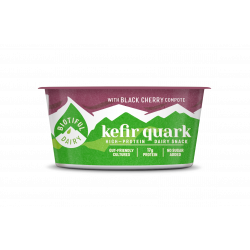 biotiful kefir quark with black cherry compote 160g