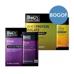 Buy 10 Whey Isolate Sachets & Get 10 BCAA Sachets FREE