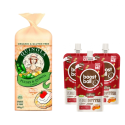 Boostball and Quinola Mothergrain Rice Cakes Bundle