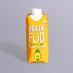 Brain Füd Energy Drink - Pineapple & Ginger 330ml