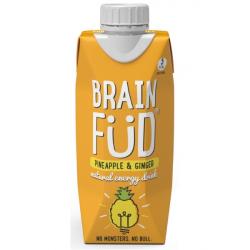Brain Fud Energy Drink - Pineapple & Ginger 6 x 330ml Bottles