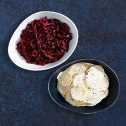 Braised Cabbage & Potato, Parsnip Gratin