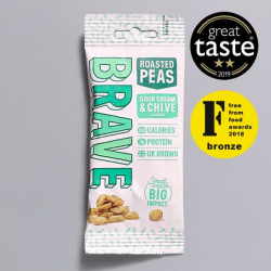 Roasted Pea Snack by Brave Sour Cream & Chive