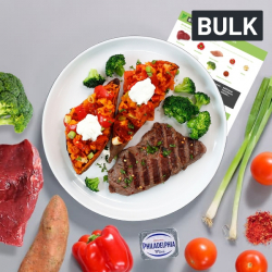 Bulk Steak and Cheesy Stuffed Sweet Potato Recipe Kit