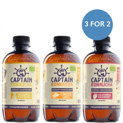 Captain Kombucha Bio-Organic 400ml-Variety Bundle! ****