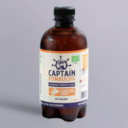 Captain Kombucha Bio-Organic 400ml-Ginger Lemon