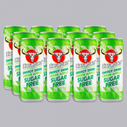 Carabao Green Apple Sugar Free Energy Drink 12 x 330ml