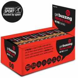 12 x Getbuzzing 100% Natural High Protein Flapjacks