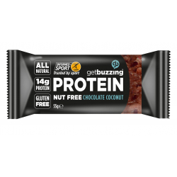 Get Buzzing Chocolate Coconut High Protein Flapjack 1 x 55g