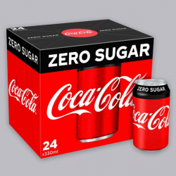 Zero Sugar Coca Cola - 24 x 330ml Cans