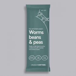 Crunchy Critters - Salt and Pepper Worms, Beans and Peas 30g