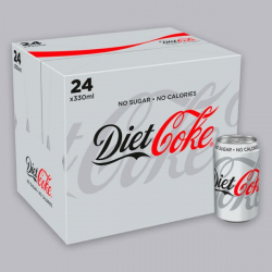 Zero Calorie Diet Coke - 24 x 330ml Cans