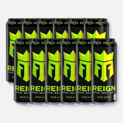 Sour Apple Reign Zero Calorie BCAA Energy Drink - 12 x 500ml