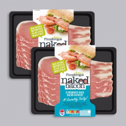 Finnebrogue Naked Unsmoked Back Bacon - 2 x 200g
