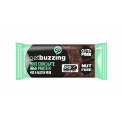 Get Buzzing Chocolate Mint Protein Flapjack -1 x Bar