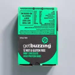Get Buzzing Chocolate Mint  Protein Flapjack -12 x Bars
