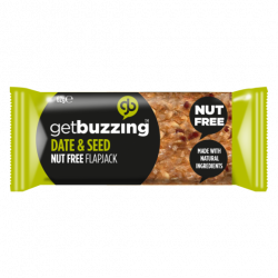 Get Buzzing Natural Date & Seed Flapjack -1 x 62g Bar