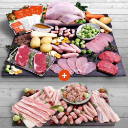Luxury Whole Turkey 3-3.4kg Hamper + Your £1 Trimmings