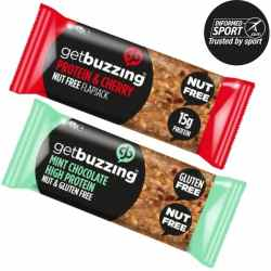 Getbuzzing 100% Natural High Protein Flapjacks