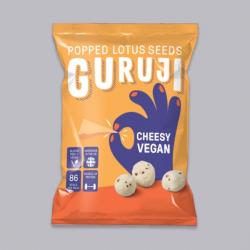 Popped Lotus Seed Snacks - Cheesy Vegan - Guruji