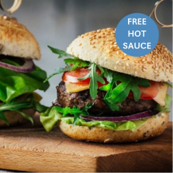 4 x Steak Burgers + Hot Sauce FREE