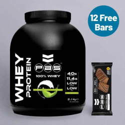 PAS Whey Protein Mint Chocolate Coconut + Free Protein Bars