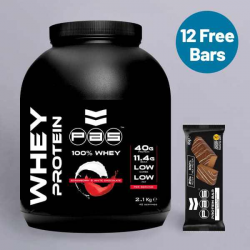 PAS Whey Protein Strawberry & White Chocolate + Free Protein Bars