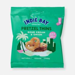 Indie Bay Pretzel Thins – Sour Cream & Onion 24g