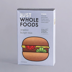 Just Wholefoods Organic Vegan Burger Mix - 125g